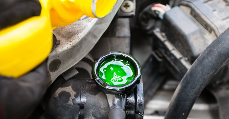 Car Coolant Level Check