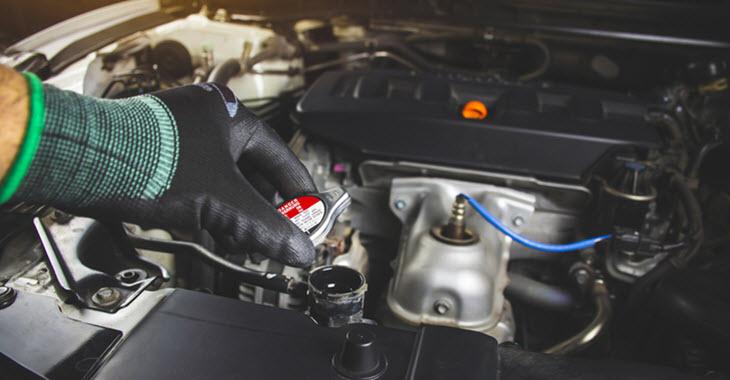 Jaguar Radiator Cap Inspection