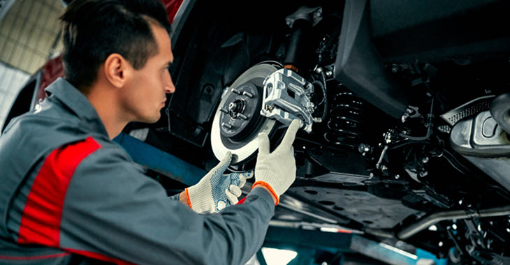 Jaguar Brake Inspection